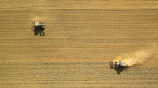 servizi di fresatura terra con trattore