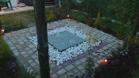 progettazione piccolo gazebo e giardino a Roma